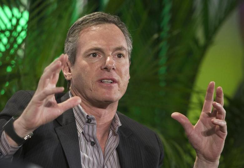 Paul Jacobs, chairman and CEO of Qualcomm, speaks during a panel discussion at the 2014 International Consumer Electronics Show (CES) in Las Vegas, Nevada, January 7, 2014. REUTERS/Steve Marcus