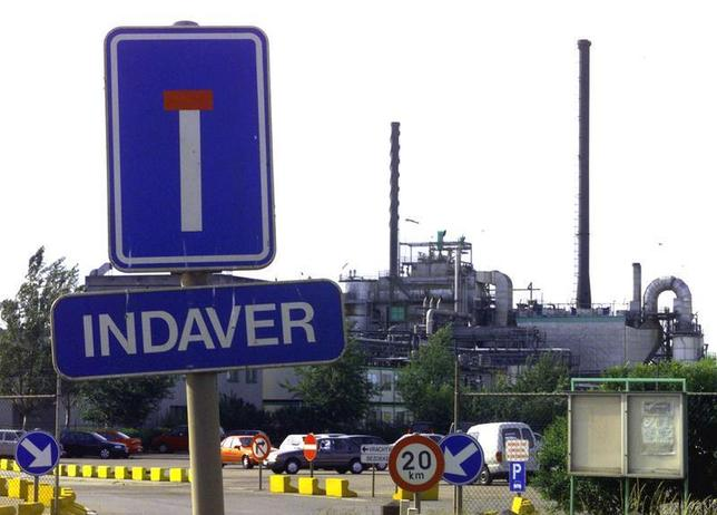 Outside view of Indaver incinerator in Antwerp June 4.