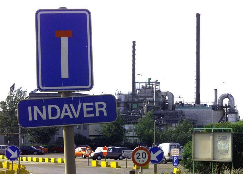 Outside view of Indaver incinerator in Antwerp June 4.