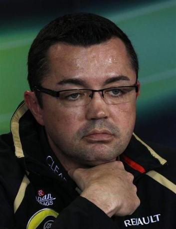 Lotus Formula One team principal Eric Boullier attends a news conference following the second practice session of the Australian F1 Grand Prix at the Albert Park circuit in Melbourne March 16, 2012. REUTERS/Brandon Malone
