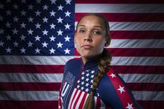 Bobsledder Lolo Jones poses for a portrait during the 2013 U.S. Olympic Team Media Summit in Park City, Utah September 30, 2013. REUTERS/Lucas Jackson