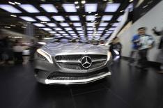 La Chine est devenue en 2013 le premier marché du constructeur haut de gamme allemand BMW devant les Etats-Unis, à la faveur d'une hausse de 20% de ses ventes dans le pays. /Photo d'archives/REUTERS/Jason Lee