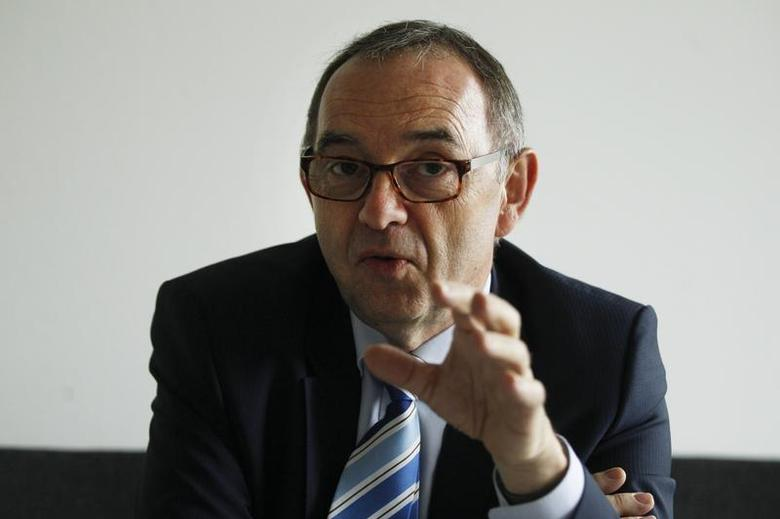 Norbert-Walter Borjans, Finance Minister of North Rhine-Westphalia, gestures during a Reuters interview at the NRW federal state parliament in Duesseldorf May 16, 2013. SWISS/DATATHEFT REUTERS/Ina Fassbender