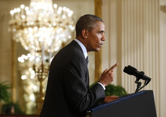 U.S. President Barack Obama announces the first five ''Promise Zones'', located in San Antonio, Philadelphia, Los Angeles, Southeastern Kentucky, and the Choctaw Nation of Oklahoma during an event at the White House in Washington January 9, 2014 file photo. REUTERS/Kevin Lamarque