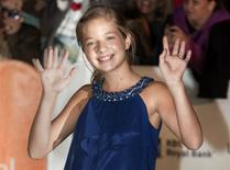 Actress Jackie Evancho arrives at a screening of the film 'The Company You Keep' during the 37th Toronto International Film Festival in this file photo taken September 9, 2012. REUTERS/Fred Thornhill/Files