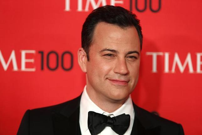 Television host Jimmy Kimmel arrives for the Time 100 gala celebrating the magazine's naming of the 100 most influential people in the world for the past year, in New York, April 23, 2013. REUTERS/Lucas Jackson