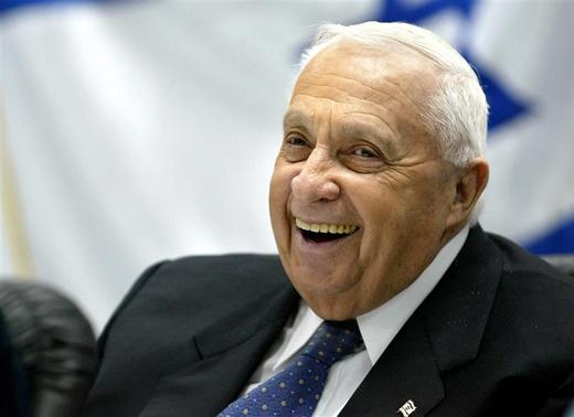 Israel's Prime Minister Ariel Sharon smiles during a meeting with army and police forces at an army base near Jerusalem in this file picture taken January 5, 2005. REUTERS/Nir Elias/Files