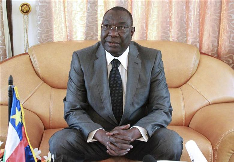 Central African Republic's interim President Michel Djotodia sits during a conference in Bangui in this December 8, 2013 file photo. REUTERS/Herve Serefio/File