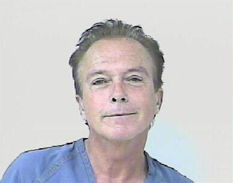 Entertainer David Cassidy is shown after his arrest in St. Lucie County, Florida November 3, 2010 in this handout photo released to Reuters November 4, 2010 (file photo). REUTERS/St. Lucie County Sheriffs Department/Handout