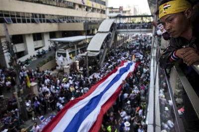No resistance as crowds occupy Thai capital in festive...
