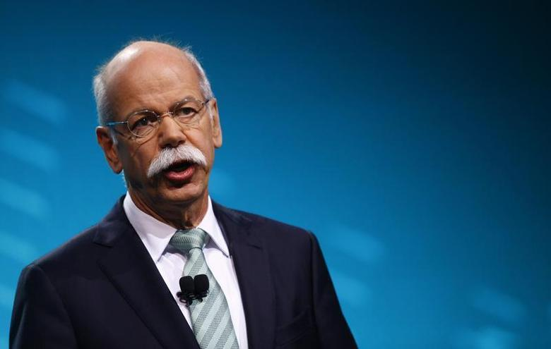 Chairman of Daimler AG and Head of Mercedes-Benz cars Dieter Zetsche speaks during the press preview day of the North American International Auto Show in Detroit, Michigan January 13, 2014. REUTERS/Joshua Lott