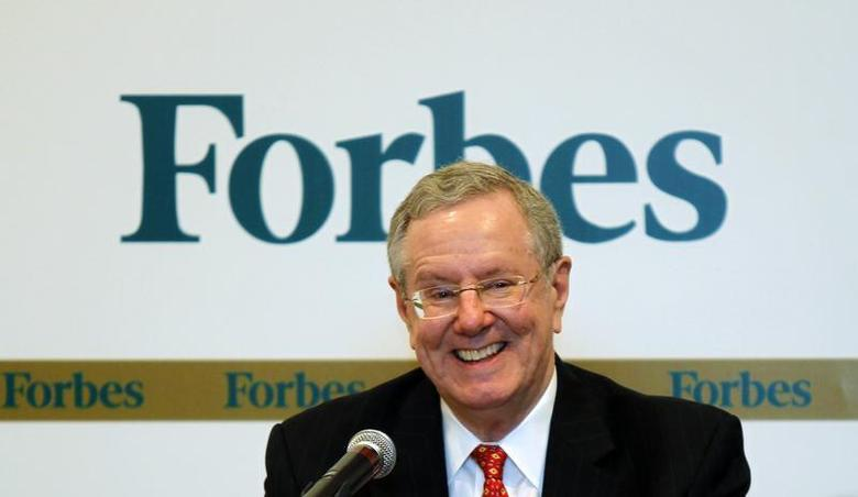 Forbes Media Chairman and Editor-in-Chief Steve Forbes smiles as he speaks during a news conference before the Forbes Global CEO Conference in Kuala Lumpur September 12, 2011. REUTERS/Bazuki Muhammad