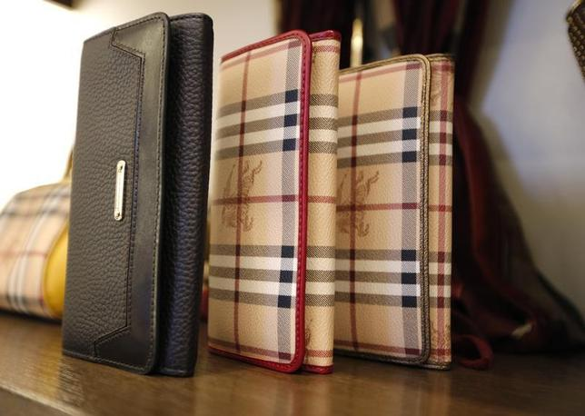 Burberry wallets are seen on display at a Burberry store in Beijing November 29, 2013. REUTERS/Kim Kyung-Hoon