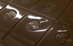 A chocolate bar is seen at Barry Callebaut factory in Lebbeke September 29, 2011. REUTERS/Yves Herman