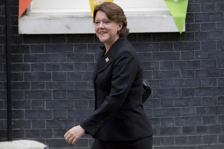 Newly assigned Culture Secretary Maria Miller leaves Downing Street in London, September 4, 2012. REUTERS/Neil Hall