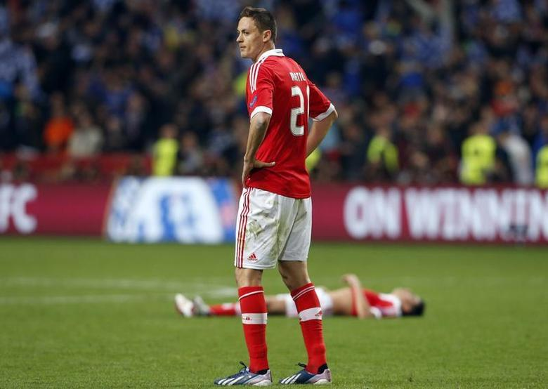 Benfica's Nemanja Matic reacts after being defeated by Chelsea in their Europa League Final soccer match at the Amsterdam Arena May 15, 2013. REUTERS/Francois Lenoir