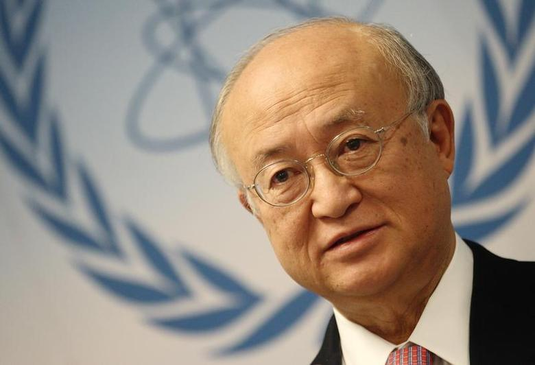 International Atomic Energy Agency (IAEA) Director General Yukiya Amano addresses the media after a board of governors meeting at the IAEA headquarters in Vienna November 28, 2013. REUTERS/Heinz-Peter Bader