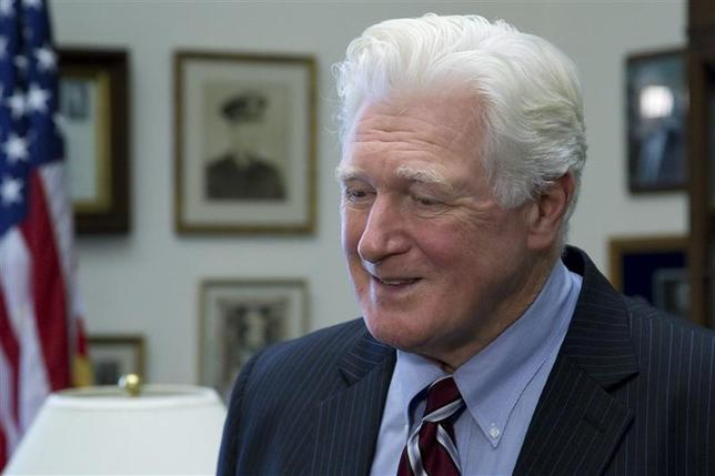 U.S. Representative Jim Moran (D-VA) talks to a television reporter during interviews in his office on Capitol Hill in Washington, January 15, 2014. REUTERS/Jonathan Ernst