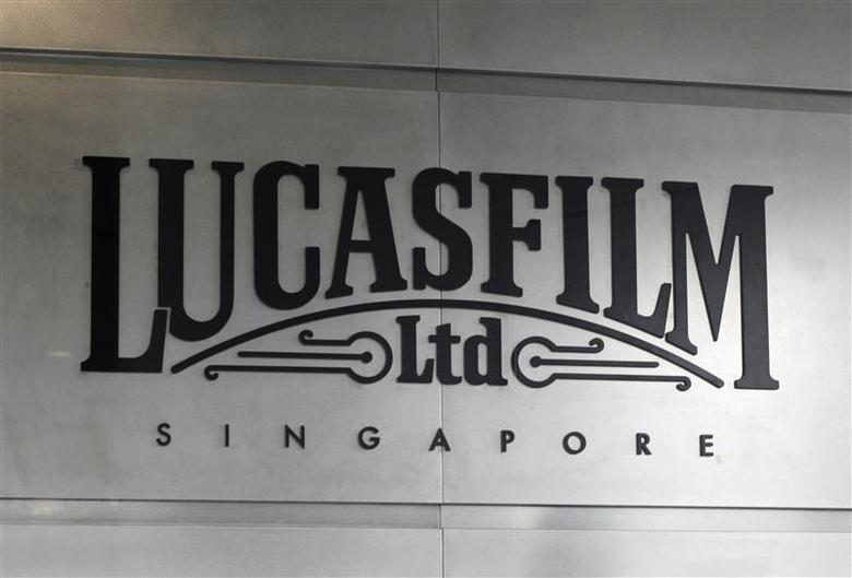 A Lucasfilm signage is pictured at the ''Sandcrawler'', Lucasfilm's new animation production facility, in Singapore January 16, 2014. REUTERS/Edgar Su