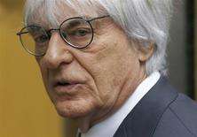 Formula One Chief Executive Bernie Ecclestone arrives at the High Court in central London in this November 6, 2013 file photo. REUTERS/Olivia Harris/files