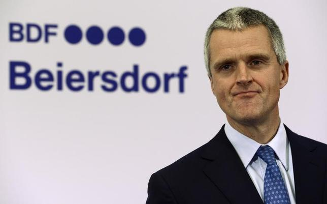 Stefan Heidenreich, new CEO of German company Beiersdorf, is pictured before the shareholder meeting in Hamburg, April 26, 2012. REUTERS/Fabian Bimmer