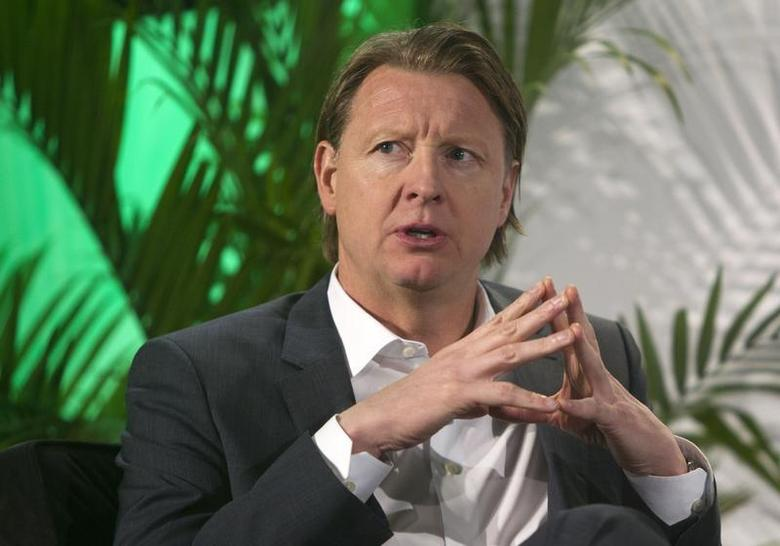 Hans Vestberg, president/CEO of Ericsson Group, speaks during a panel discussion at the 2014 International Consumer Electronics Show (CES) in Las Vegas, Nevada, January 7, 2014. REUTERS/Steve Marcus