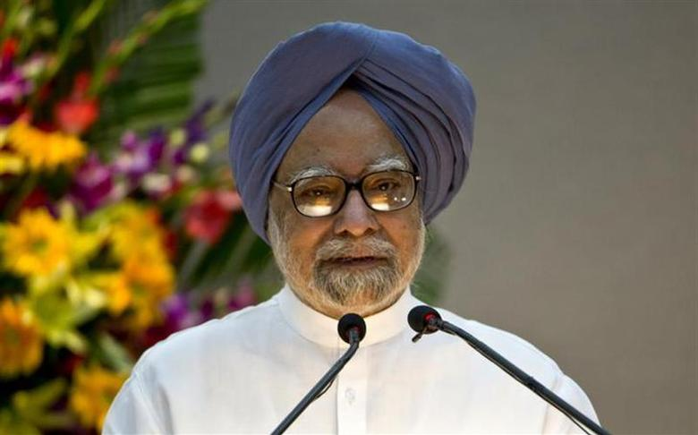 Prime Minister Manmohan Singh speaks during the launch of the ''Gandhi Heritage Portal'' in New Delhi September 2, 2013. REUTERS/Prakash Singh/Pool/Files