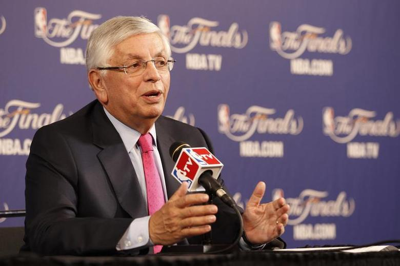 NBA Commissioner David Stern holds a news conference before Game 1 of the NBA Finals basketball playoff in Miami, Florida June 6, 2013. REUTERS/Andrew Innerarity