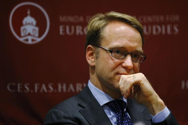 Jens Weidmann, president of the German Bundesbank and a member of the European Central Bank (ECB) Governing Council, speaks at the Center for European Studies at Harvard University in Cambridge, Massachusetts November 25, 2013. REUTERS/Brian Snyder