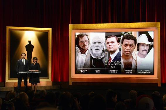 Actor Chris Hemsworth (L) and Academy of Motion Picture Arts and Sciences President Cheryl Boone Isaacs announce the nominees for Best Actor at the 86th Academy Awards nominee announcements in Beverly Hills, California January 16, 2014. REUTERS/Phil McCarten