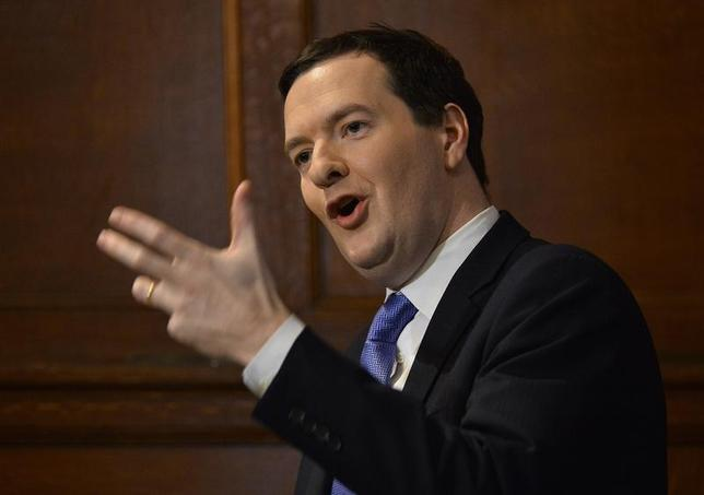 Britain's Chancellor of the Exchequer George Osborne addresses a conference on European Union reform, in central London January 15, 2014. REUTERS/Toby Melville