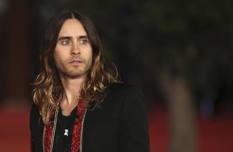 Cast member Jared Leto arrives for a red carpet event for the movie ''Dallas Buyers Club'' at the Rome Film Festival, November 9, 2013. REUTERS/Alessandro Bianchi