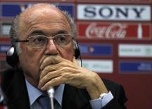 FIFA President Sepp Blatter attends a news conference at the Club World Cup soccer tournament in Marrakech December 19, 2013. REUTERS/Amr Abdallah Dalsh