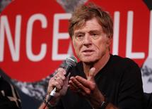 Actor Robert Redford addresses the media at an opening day news conference for the Sundance Film Festival at the Egyptian Theatre in Park City, Utah, January 16, 2014. REUTERS/Jim Urquhart