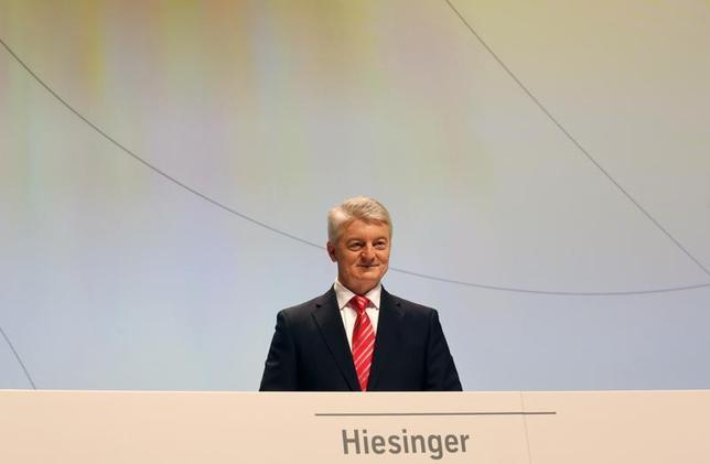 CEO of ThyssenKrupp, Heinrich Hiesinger, addresses the annual general meeting in Bochum January 17, 2014. REUTERS/Ina Fassbender