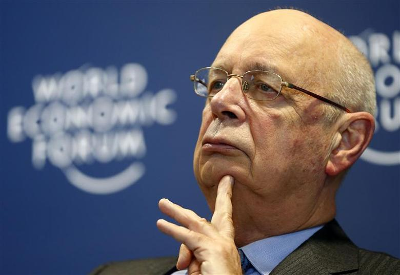 World Economic Forum (WEF) Executive Chairman and founder Klaus Schwab pauses during a news conference in Cologny, near Geneva, January 15, 2014. REUTERS/Denis Balibouse