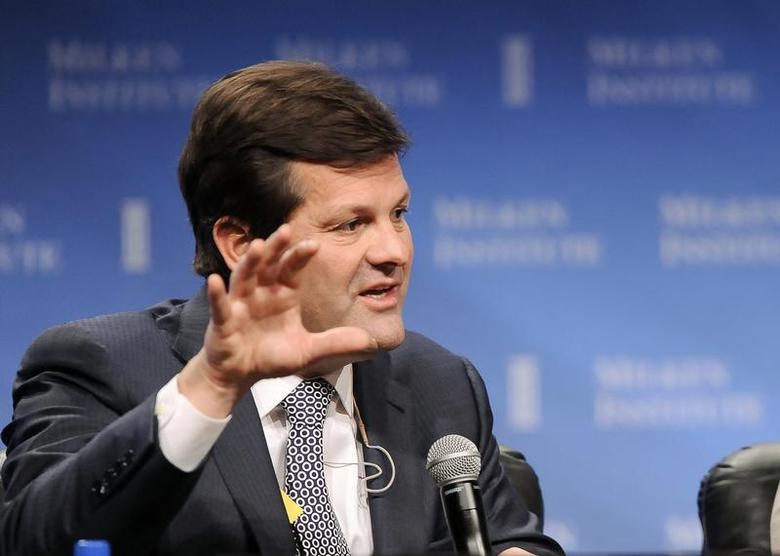 Pierre Beaudoin, President and CEO, Bombardier Inc., takes part in a panel discussion titled ''Global Overview'' at the Milken Institute Global Conference in Beverly Hills, California April 29, 2013. REUTERS/Gus Ruelas