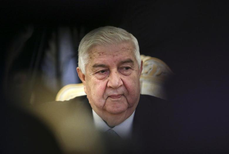 Syrian Foreign Minister Walid al-Moualem attends a meeting with his Russian counterpart Sergei Lavrov in Moscow January 17, 2014. REUTERS/Sergei Karpukhin