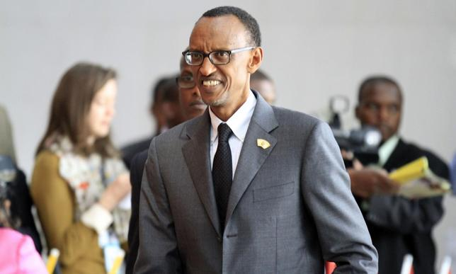 Rwanda's President Paul Kagame arrives for the extraordinary session of the African Union's Assembly of Heads of State and Government on the case of African Relationship with the International Criminal Court (ICC), in Ethiopia's capital Addis Ababa, October 12, 2013. REUTERS/Tiksa Negeri
