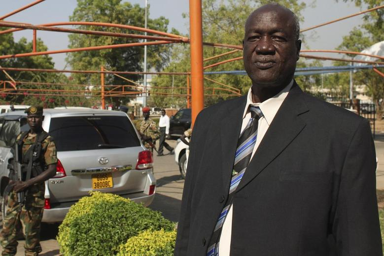 South Sudan's Defence Minister Kuol Manyang Juuk, poses for a photo after a cabinet meeting in Juba January 17, 2014. REUTERS/Andreea Campeanu
