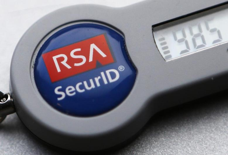 An RSA SecurID dongle used for internet VPN tunnelling is seen in Toronto in this file photo from December 18, 2013. REUTERS/Chris Helgren/Files
