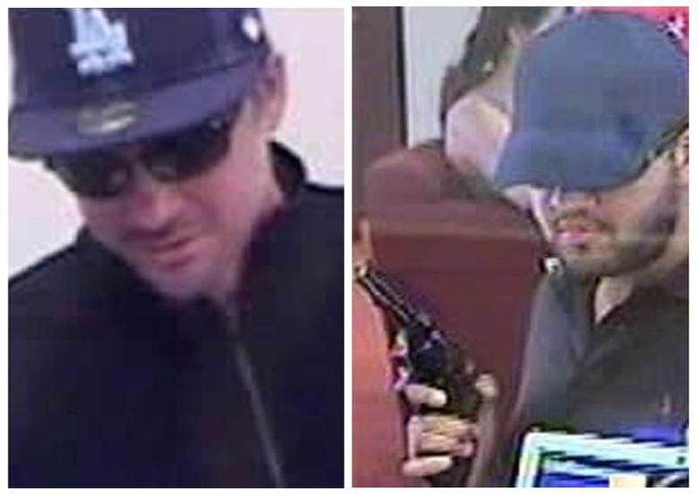 Suspects in a series of armed bank robberies are seen in undated photos released by the FBI in Los Angeles January 17, 2013. REUTERS/FBI/Handout via Reuters