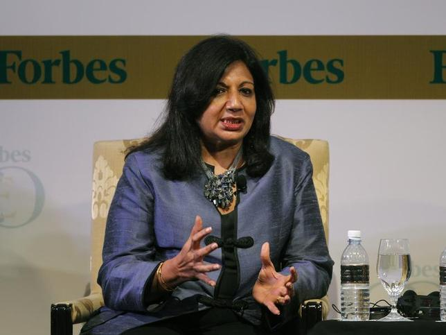 India's Biocon Ltd Chairman and Managing Director Kiran Mazumdar-Shaw speaks during the Forbes Global CEO Conference in Kuala Lumpur September 13, 2011. REUTERS/Bazuki Muhammad