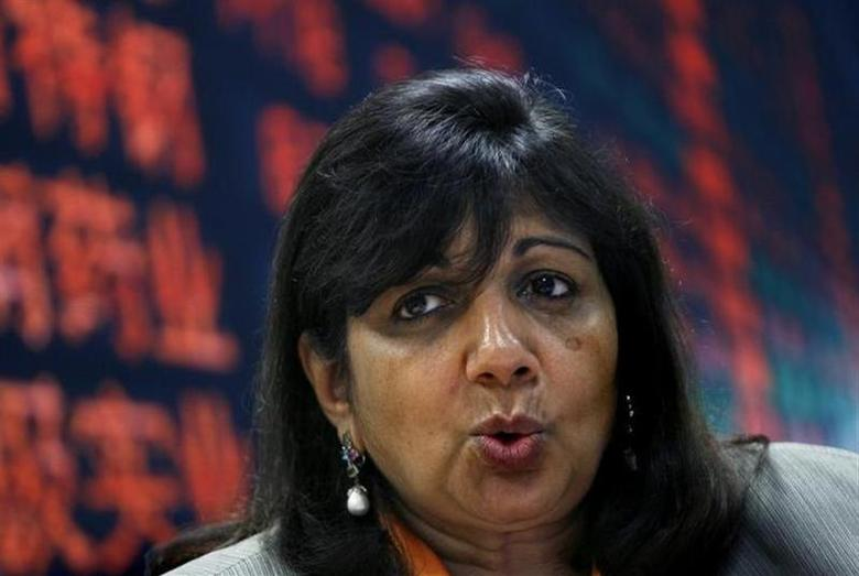 Kiran Mazumdar-Shaw, Chairman and Managing Director of Biocon Ltd, speaks during the Reuters India Investment Summit in Bangalore December 6, 2007. REUTERS/Arko Datta/Files