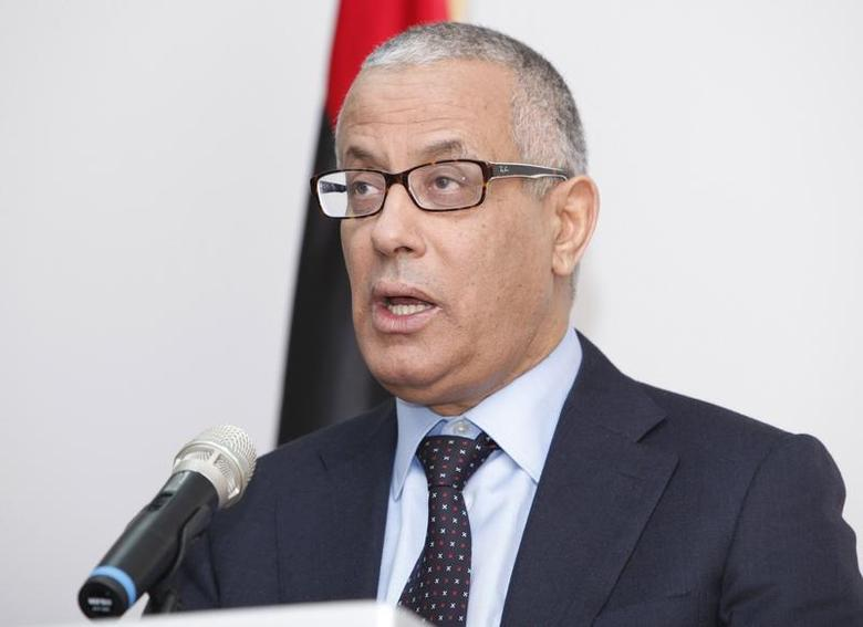 Libya's Prime Minister Ali Zeidan speaks during a news conference in Tripoli, Libya January 14, 2014. REUTERS/Ismail Zitouny