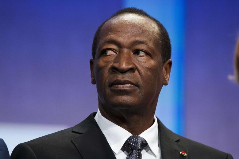 President of Burkina Faso, Blaise Compaore, sits on stage to support a commitment to stop poaching of African elephants at the Clinton Global Initiative (CGI) in New York September 26, 2013 file photo. REUTERS/Lucas Jackson