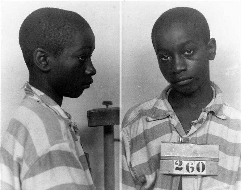 George Stinney Jr appears in an undated police booking photo provided by the South Carolina Department of Archives and History. Attorneys in South Carolina say they have found fresh evidence that warrants a new trial in the case of a 14-year-old black teenager put to death nearly 70 years ago for the murders of two white girls. George Stinney Jr. was the youngest person to be executed in the United States in the last century, and attorneys say the request for another trial so long after a defendant's death is the first of its kind in South Carolina. REUTERS/South Carolina Department of Archives and History/Handout