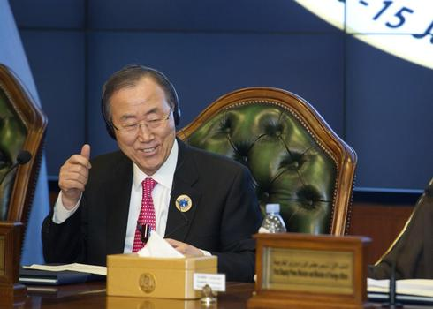 U.N. chief Ban says invites Iran to Syria peace talks