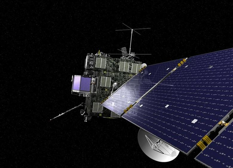 Rosetta, the European Space Agency's cometary probe with NASA contributions, is seen in an undated artist's rendering. REUTERS/ESA/NASA/Handout