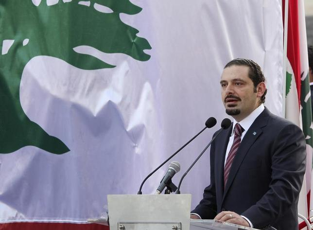 Lebanon's caretaker Prime Minister Saad al-Hariri speaks during a ceremony to unveil a statue of his father, Lebanon's assassinated former prime minister Rafik al-Hariri, in front of the government palace in Beirut in this March 31, 2011 file photo. REUTERS/ Mohamed Azakir